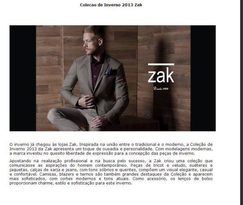 Zak campaign winter 2013